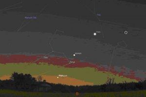 Жители Башкирии смогут наблюдать соединение Меркурия и Марса