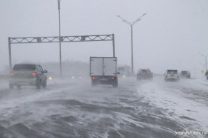 В Башкирии прогнозируются снег, метель и ухудшение видимости
