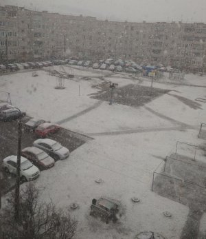 В Башкирии на 1 мая выпал град и снег