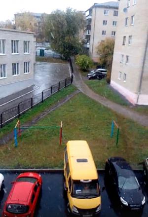 Первый снег выпал на территории Башкирии - видео