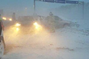 В Башкирии на трассе М-5 столкнулись 12 автомобилей
