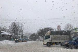 В Башкирии в ближайшие дни прогнозируются дождь со снегом и гололедица