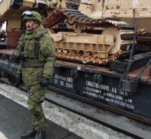 В Башкирию прибыл поезд с трофейной техникой