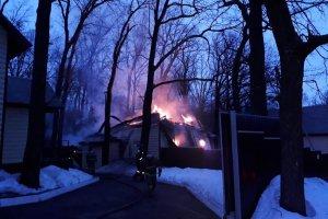 В Ишимбайском районе сгорел домик на базе отдыха у горы Куштау