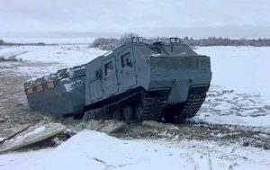 Вездеход «Витязь» успешно проходит испытания в условиях Крайнего Севера
